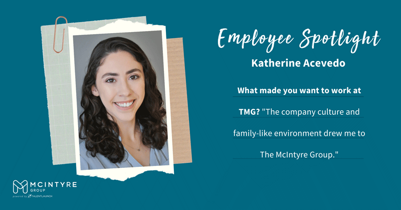 Employee Spotlight, Katherine Acevedo is our Recruiting Operations Manager and we would be lost without her help!